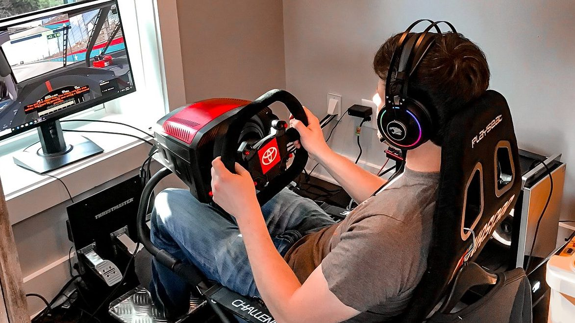A look at various iRacing sim rigs NASCAR drivers are using - NBC Sports