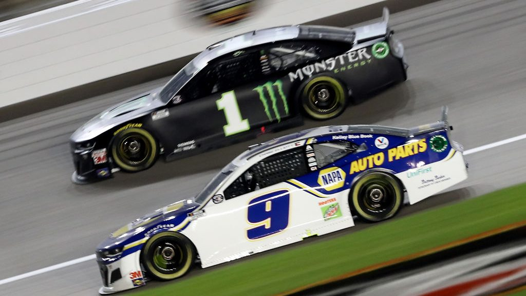 A spot in the championship race is on the line for the eight remaining playoff contenders Sunday at Kansas Speedway.